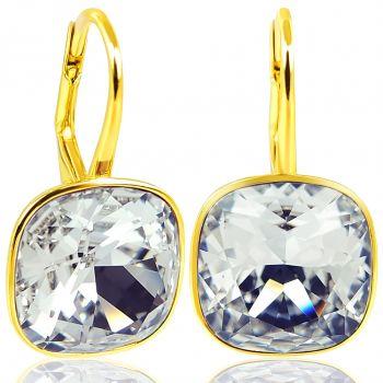 NOBEL SCHMUCK Ohrringe Gold Crystal - Kristalle von Swarovski® 925 Sterling