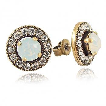 Ohrstecker Ohrringe mit Markenkristallen Gold Viele Farben NOBEL SCHMUCK