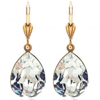 Ohrringe Crystal Gold mit Kristallen von Swarovski® Tropfen NOBEL SCHMUCK