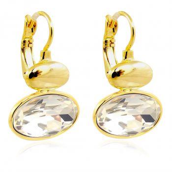 Ohrringe mit Kristallen von Swarovski® Gold Damen Ohrhänger NOBEL SCHMUCK