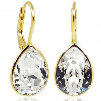 NOBEL SCHMUCK Ohrringe 925 Sterling Silber vergoldet Kristallen von Swarovski®