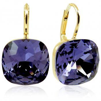 Ohrringe mit Kristallen von Swarovski® Gold Lila NOBEL SCHMUCK