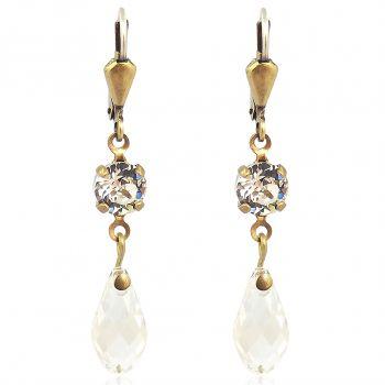 Ohrringe mit Kristalle von Swarovski® Gold viele verschiedene Farben NOBEL SCHMUCK