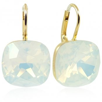 Ohrringe Weiß mit Kristallen von Swarovski® Gold NOBEL SCHMUCK