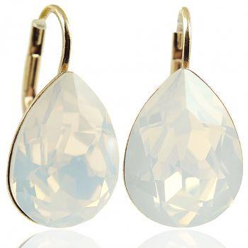 Ohrringe mit Kristallen von Swarovski® Gold Viele Farben NOBEL SCHMUCK