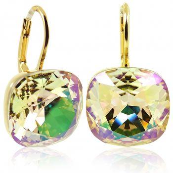 Ohrringe mit Kristallen von Swarovski® Gold Grün Gelb Luminous Green NOBEL SCHMUCK