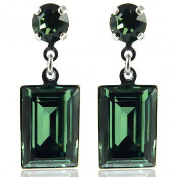 Ohrringe mit Kristalle von Swarovski® Silber Viele Farben NOBEL SCHMUCK