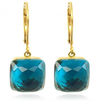 Ohrringe Gold mit Kristallen von Swarovski® Damen Ohrhänger Blau NOBEL SCHMUCK