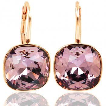 Ohrringe Rosegold 925 Sterling Silber Kristalle NOBEL SCHMUCK