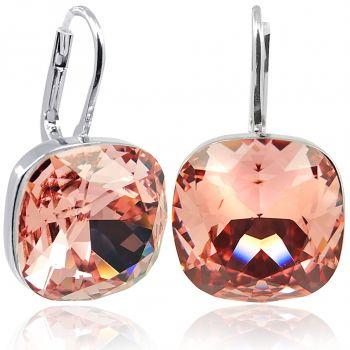Ohrringe mit Kristallen von Swarovski® Silber Rosa Orange NOBEL SCHMUCK