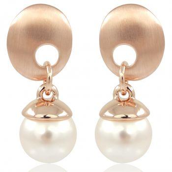 Perlen-Ohrringe Rosegold mit Perlen von Swarovski® NOBEL SCHMUCK