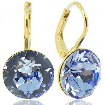 Ohrringe mit Kristallen von Swarovski® Blau Gold NOBEL SCHMUCK