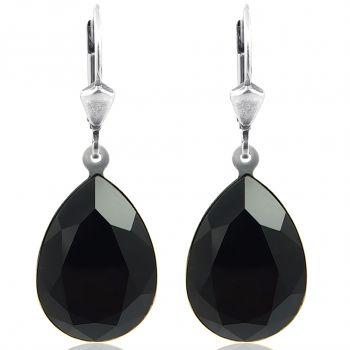 Ohrringe mit Kristallen von Swarovski® Silber Tropfen Viele Farben NOBEL SCHMUCK