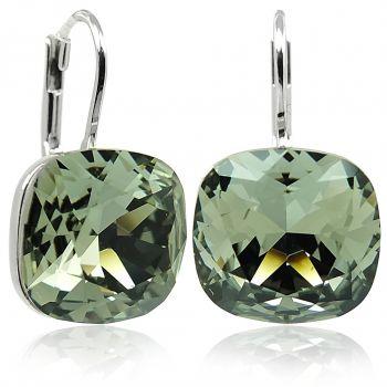 Ohrringe mit Kristalle von Swarovski® Silber Grau NOBEL SCHMUCK