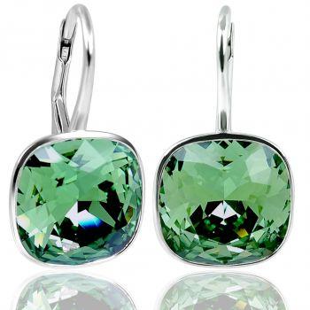 NOBEL SCHMUCK Ohrringe Silber Grün mit Kristallen von Swarovski® 925 Sterling