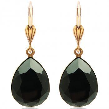 Ohrringe Gold mit Kristallen von Swarovski® Tropfen Viele Farben NOBEL SCHMUCK