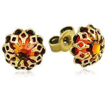 Ohrstecker mit Kristallen von Swarovski® Gold Viele Farben Romantisch NOBEL SCHMUCK