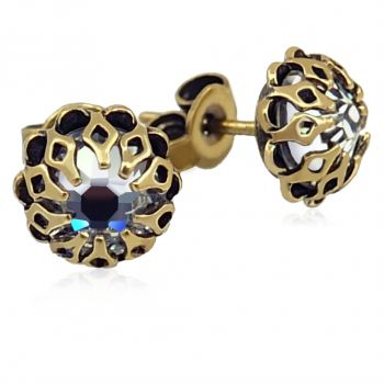 Ohrstecker mit Kristallen von Swarovski® Gold Crystal Romantisch NOBEL SCHMUCK