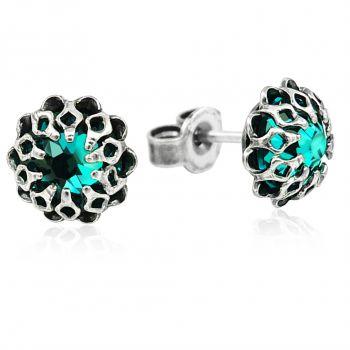 Ohrstecker mit Kristallen von Swarovski® Silber Viele Farben Romantisch NOBEL SCHMUCK
