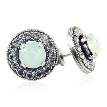 Ohrstecker Ohrringe mit Markenkristallen Silber Viele Farben NOBEL SCHMUCK
