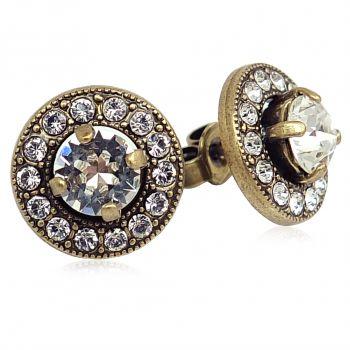 Damen-Ohrstecker mit Kristallen von Swarovski® Gold NOBEL SCHMUCK