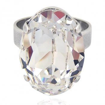 Ring mit Kristall von Swarovski® Variabel verstellbar NOBEL SCHMUCK