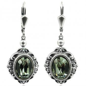Vintage Ohrringe mit Kristallen von Swarovski® Silber Viele Farben NOBEL SCHMUCK