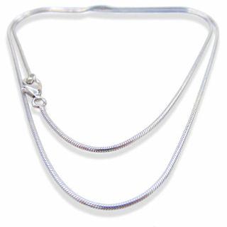Schlangen-Kette 925 Sterling Silber Damen-Halskette ohne Anhänger 42 cm 1,4 mm NOBEL SCHMUCK