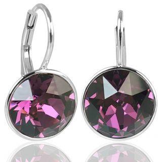 NOBEL Silber-Ohrringe Kristallen 925 Sterling Silver - kurze Ohrhänger elegant schlicht
