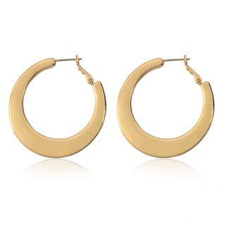 NOBEL SCHMUCK Ohrringe Creolen für Frauen Damen Groß Hoops Ohrringe Kreolen Gold