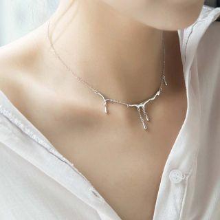 NOBEL SCHMUCK Silberkette Klecks 925 Sterling Silber - moderne Halskette minimalistisch