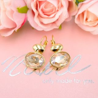 Ohrringe mit Markenkristallen Gold Damen Ohrhänger NOBEL SCHMUCK