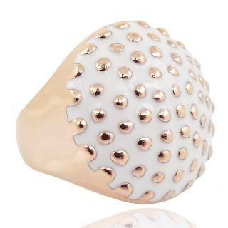 Damen-Ring Cocktailring Roségold Weiß von NOBEL SCHMUCK