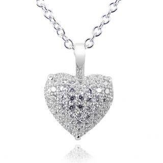 NOBEL SCHMUCK Damen-Kette Herz Love Gold Silber Rosegold - Halskette für Frauen Mädchen