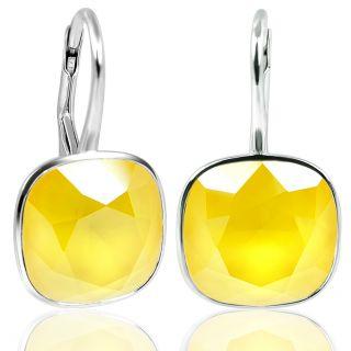 925 Silberohrringe Gelb mit Kristalle von Swarovski® NOBEL SCHMUCK