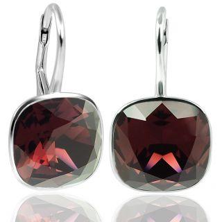 Ohrringe mit Kristallen von Swarovski® Burgundy Rot 925 Silber NOBEL SCHMUCK