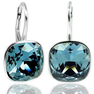 Silberohrringe 925 Sterling Silber mit Kristallen von Swarovski® Blau NOBEL SCHMUCK