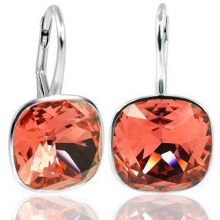 925 Silber Ohrringe mit Kristallen von Swarovski® Orange NOBEL SCHMUCK