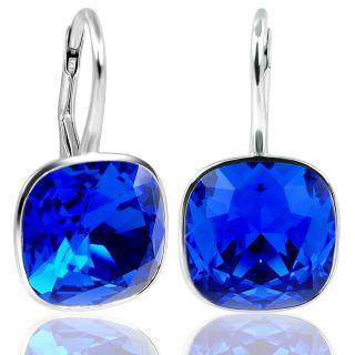 Ohrringe 925 Silber mit Kristallen von Swarovski® Blau NOBEL SCHMUCK