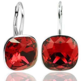 Ohrringe mit Kristallen von Swarovski® Rot 925 Silber NOBEL SCHMUCK
