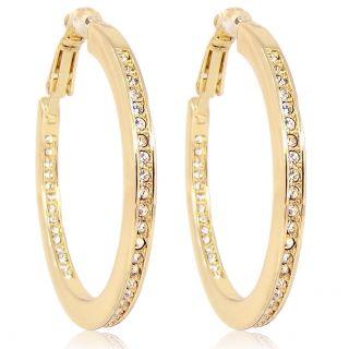 Creolen mit Kristallen von Swarovski® Gold Ohrringe NOBEL SCHMUCK