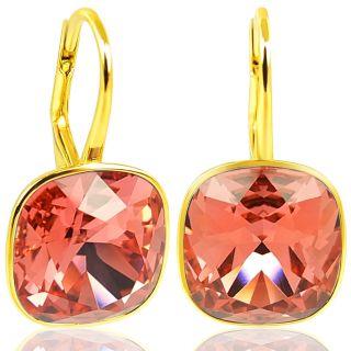 Ohrringe Gold mit Kristallen von Swarovski® Rot Koralle NOBEL SCHMUCK
