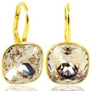 925 Silber Ohrringe mit Kristalle von Swarovski® Gold Silk NOBEL SCHMUCK
