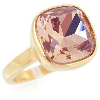 Ring Edelstahl mit Kristall von Swarovski® Gold Rosa NOBEL SCHMUCK