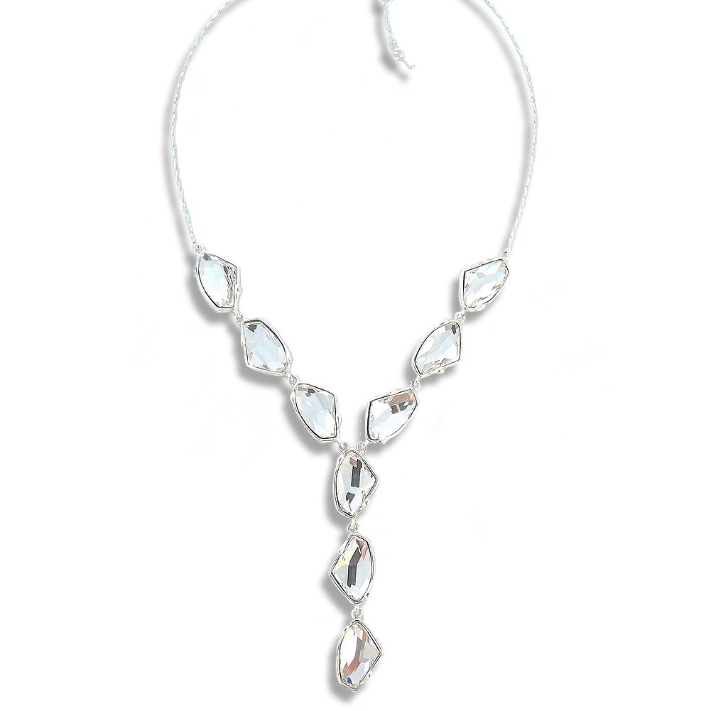 kette mit kristallen von swarovski silber crystal damen collier von nobel sch ebay. Black Bedroom Furniture Sets. Home Design Ideas