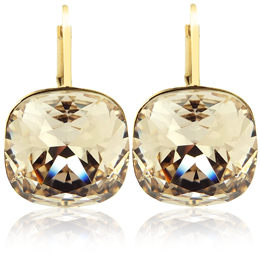 ohrringe mit kristalle von swarovski gold silk nobel schmuck 4260485273849 ebay. Black Bedroom Furniture Sets. Home Design Ideas