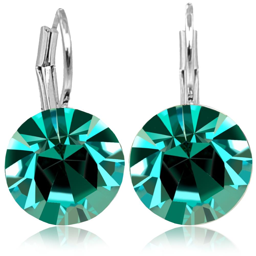 Ring mit Kristall von Swarovski® Silber Blau Türkis Verstellbar NOBEL SCHMUCK