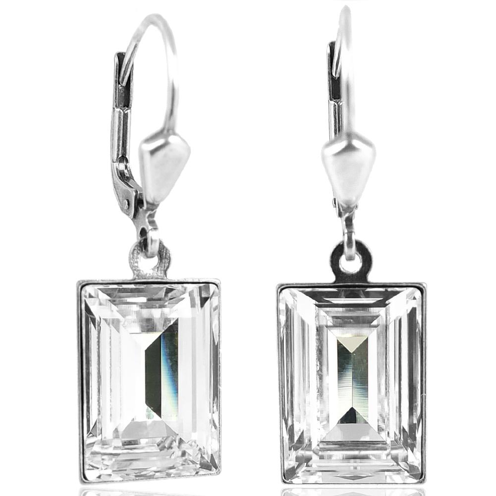 Details zu Ohrringe mit Kristalle von Swarovski® Silber Viele Farben NOBEL SCHMUCK