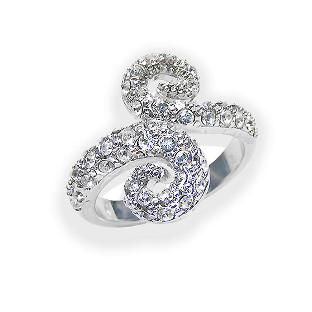 ring mit kristallen von swarovski gr 52 silber crystal. Black Bedroom Furniture Sets. Home Design Ideas
